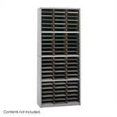 Safco Value Sorter 72 Compartment Metal Flat Files Vertical Organizer in Gray