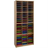 Safco Value Sorter 72 Compartment Metal Flat Files Organizer in Medium Oak 