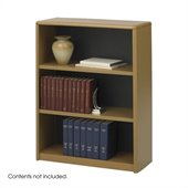Safco 3-Shelf ValueMate Medium Oak Economy Steel Bookcase