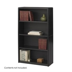 Safco ValueMate 4 Shelf Economy Steel Bookcase in Black
