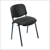 Safco Workspace Visit Black Frame Upholstered Black Stacking Chair (Set of 2)