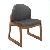 Safco Workspace Urbane Cherry and Black Guest Chair with Sled Base