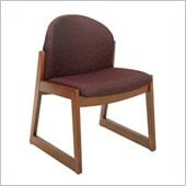 Safco Workspace Urbane Cherry and Burgundy Guest Chair with Sled Base