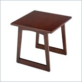 Safco Workspace Urbane Mahogany Corner Table