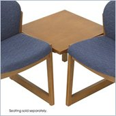 Safco Workspace Urbane Medium Oak Corner Connecting Table