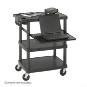 Safco Black Multimedia Projector Cart