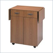 Safco Medium Oak Hospitality Service Cart