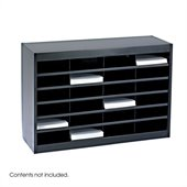Safco E-Z Stor Black Mail Organizer, 24 Letter Size Compartments