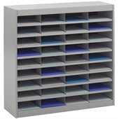 Safco E-Z Stor Grey Mail Organizer, 36 Letter Size Compartments