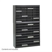 Safco E-Z Stor Black Mail Organizer, 60 Letter Size Compartments