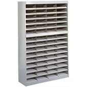 Safco E-Z Stor Grey Mail Organizer, 60 Letter Size Compartments