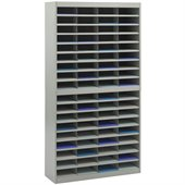 Safco E-Z Stor Grey Mail Organizer, 72 Letter Size Compartments
