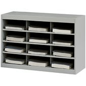 Safco E-Z Stor Grey Steel Mail Organizer, 12 Compartments