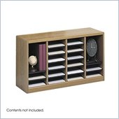 Safco E-Z Stor Medium Oak Wood Mail Organizer, 24 Compartments
