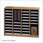Safco E-Z Stor Medium Oak Wood Mail Organizer, 36 Compartments