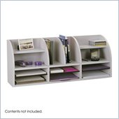 Safco Grey 38W Radius Front Desk Top Organizer