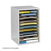 Safco Grey 11 Compartment Vertical Desk Top Sorter