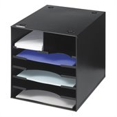 Safco Steel Desktop Organizer, 7 Compartment