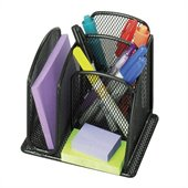 Safco Onyx Mini Organizer, Set of 6