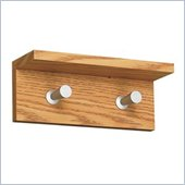 Safco Contempo Wood 2 Hook Wall Coat Rack in Medium Oak