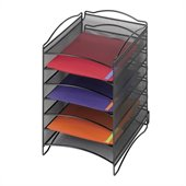 Safco Onyx 6 Compartment Mesh Literature Organizer