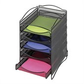 Safco Onyx 5 Drawer Mesh Literature Organizer