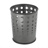 Safco Bubble Wastebasket in Charcoal, Set of 3