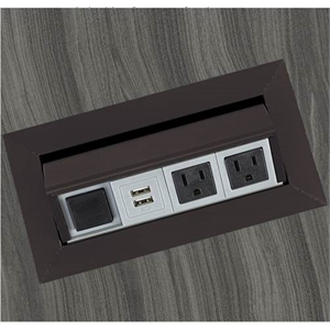 Safco Power Module with 2 Power and 2 USB Outlets in Black