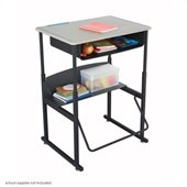 Safco AlphaBetter 20 x 38 Student Desk in Beige with Book Box