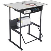 Safco AlphaBetter 24 x 36 Student Desk in Gray with Book Box