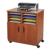 Safco Mobile Machine Stand with Sorter in Cherry
