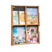 Safco Expose 4 Magazine 8 Pamphlet in Medium Oak Finish