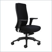 Safco Bliss High Back Chair in Black