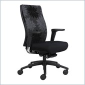 Safco Bliss High Back Chair in Black Print