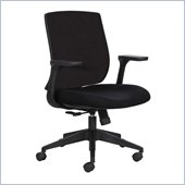 Safco Bliss Mid Back Chair in Black
