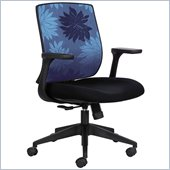 Safco Bliss Mid Back Chair in Blue Print