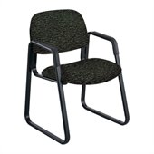 Safco Cava Urth Sled Base Guest Chair in Black