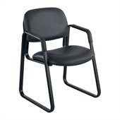 Safco Cava Urth Sled Base Guest Chair in Black Vinyl