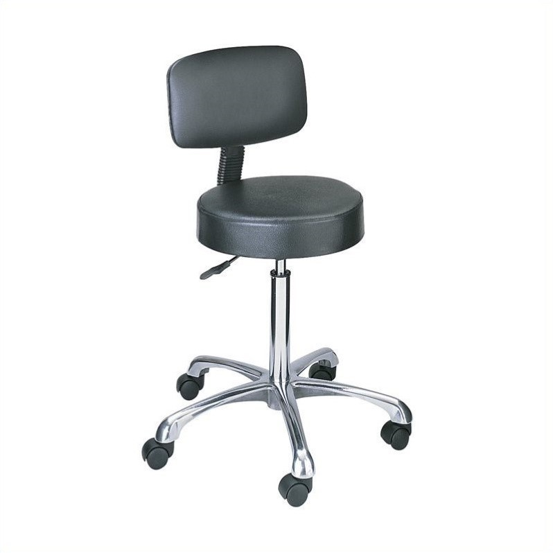 Black Lab Stool with Pneumatic Lift