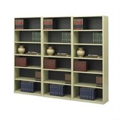 Safco 6-Shelf ValueMate Sand Economy Steel Wall Bookcase