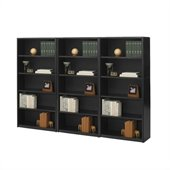 Safco ValueMate 5 Shelf Wall Economy Steel Bookcase in Black