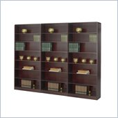 Safco WorkSpace Seven Shelf Radius Edge Wall Bookcase in Mahogany