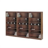 Safco WorkSpace Six Shelf 30W Baby Wall Bookcase in Medium Oak