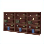 Safco WorkSpace 5 Shelf Square-Edge Wood Wall Bookcase in Mahogany