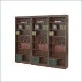 Safco WorkSpace 7 Shelf 30 W x 84 H Baby Wall Bookcase in Walnut