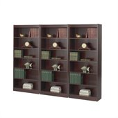 Safco WorkSpace Six Shelf 30W Baby Wall Bookcase in Mahogany