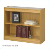 Safco 2-Shelf Square-Edge Veneer Bookcase in Light Oak Finish