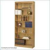 Safco 7-Shelf Square-Edge Veneer Bookcase in Light Oak