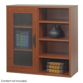 Safco Aprs  Modular Storage Single Door/ Open Shelves in Cherry