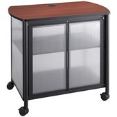 Safco Impromptu Deluxe Machine Stand with Doors in Black